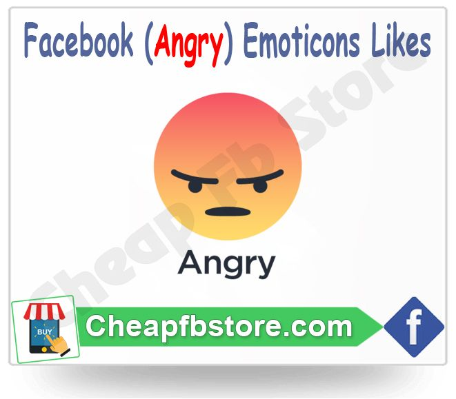 Buy Angry Facebook Emoticons Post Likes